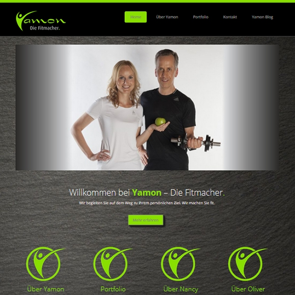 Website Screenshot Homepage yamon.de