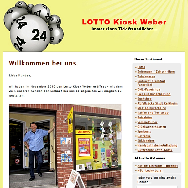 Website Screenshot lotto-kiosk-weber.de